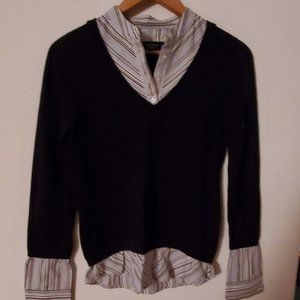 Canyon River Blues Blue Faux Layered Sweater S